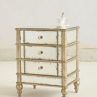 Mirrored Nightstand by Anthropologie Clear One Size Wall Decor