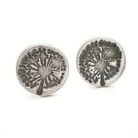 Dandelion Wish Silver Stud Earrings