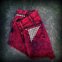 Vintage High Waisted Studded Cut Off Wrangler by TrueBlueDryGoods