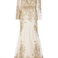 Notte by Marchesa | Embroidered tulle gown | NET-A-PORTER.COM