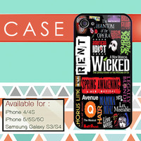 Wicked Broadway Musical custom design available for iphone 4/4s,5/5s/5c and samsung galaxy S3/S4/S5 case