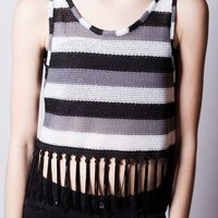 B&Z Fringed Low Armhole Crop
