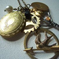 The Hunger Games necklace jewelry charm necklace by 1luckysoul