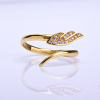 "Angel wing ring, angel ring, gold angel wing, adjustable ring, stacking ring, gold ring, bridesmaid gift, cz ring, gold stack ring, ""Notus"""