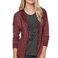 Volcom Lived In Long Hoodie - Womens Hoodie - Red -
