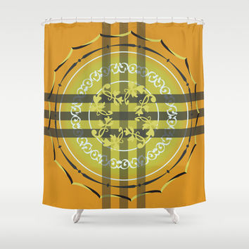 Frolic Shower Curtain by Ramon Martinez Jr