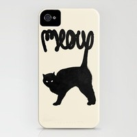 Meow iPhone Case by Speakerine | Society6