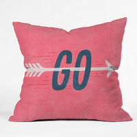 Nick Nelson Go Throw Pillow