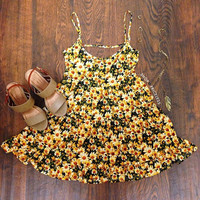 Brandy Daisy Dress - Yellow
