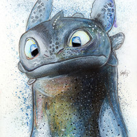Toothless Art Print by Luke Jonathon Fielding | Society6
