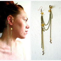 $24.00 Constellations Stars Single Earring Ear Cuff by LarkinAndLarkin