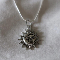 NOW AVAILABLE ~ Sun & Moon Sterling Silver Necklace. 18 or 20 inches!