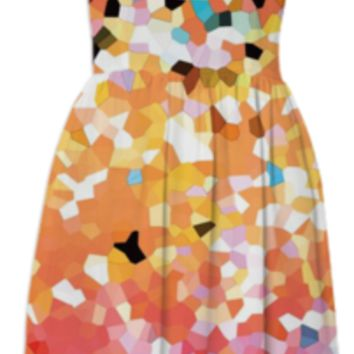 SUMMER DRESS Mosaic Sparkley Texture G22 created by Medusa GraphicArt   Print All Over Me