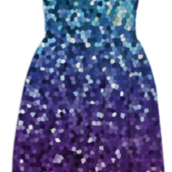 SUMMER DRESS Mosaic Sparkley Texture G21 created by Medusa GraphicArt | Print All Over Me