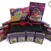 Gift Boxed Harry Potter Jelly Belly Bean Boozled Spinner Game 3.5 Oz, 6 Bean Boozled 1.6 Oz Boxes, Jelly Slugs 2.1 Oz., 4 Bertie Bott's 1.2 Oz, and a Thank You Gift