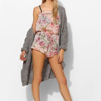 Band Of Gypsies Ruffle-Trim Floral Chiffon Romper