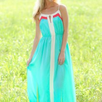 Hope Floats Maxi Dress-Mint