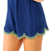 Fool Me Once Shorts: Navy Blue