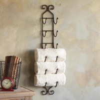 A MANO 6-TOWEL RACK - Bath - For the Home | Robert Redford&#x27;s Sundance Catalog