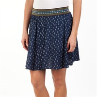 Angie Juniors Printed Woven Skirt with Embroidered Waistband at Von Maur