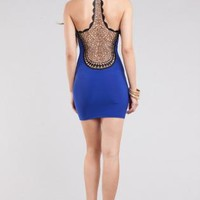 Mini Dress With Detailed Crochet Scoop Back