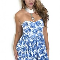 Sweetheart Strapless Cute Mini Dress