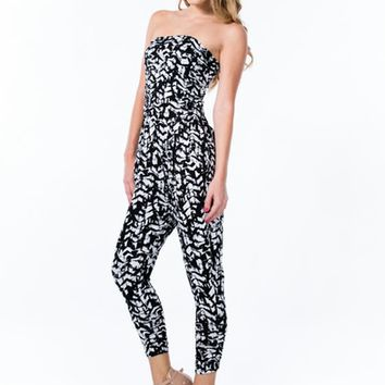 Controlled Chaos Harem Tube Jumpsuit