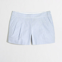 Factory pleated seersucker short - novelty - FactoryWomen's Shorts - J.Crew Factory