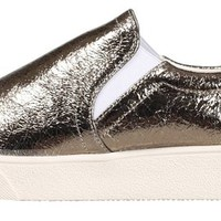 Soyou Women's Metalic Leather Slip-on Sneaker