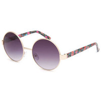 Full Tilt Peony Round Sunglasses Multi One Size For Women 24319295701