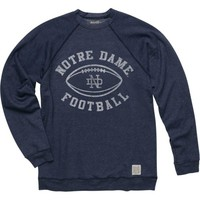 Notre Dame Fighting Irish Original Retro Brand Navy Blue Vintage Football Crewneck Sweatshirt