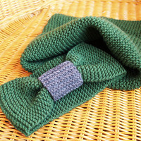 on SALE 50% off - Knit Scarf Infinity Cowl Knitted Green, Green Neck Warmer, Hand Knit Cowl, Hand Knitted Scarf
