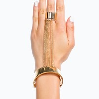 Chained And Cuffed Hand Bracelet