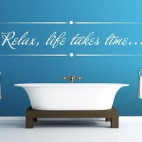 Quote wall decal - Relax text quote wall decal - Wall Decals , Home Art and Car Stickers