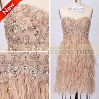 Alibaba Evening Dress Beaded Nude Short Feather Cocktail Dresses 2014, View short feather cocktail dresses, Choiyes Cocktail Dress Product Details from Chaozhou Choiyes Evening Dress Co., Ltd. on Alibaba.com