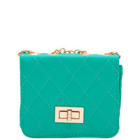 Lower Case Mini Clutch - Teal - One Size / Teal