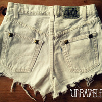 High Wasted Studded Jean Shorts Size MEDIUM by UnraveledClothing