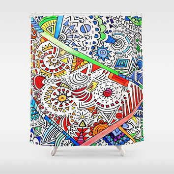 Surrounded Shower Curtain by DuckyB (Brandi)