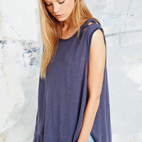 Free People Summers End Sleeveless Tee in Blue - Urban Outfitters