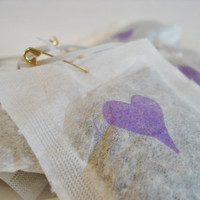 Herbal car air freshener with lavender, peppermint, and vanilla