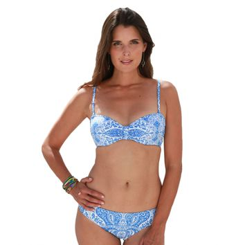 Aspiga | Luxury Bandeau Blue Batik Two-Piece Bikini by Moontide