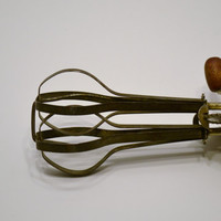 Vintage Red Handled Eggbeater Mixer