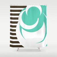 Lines & Dots Shower Curtain by Timothy Davis