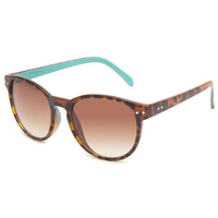 Full Tilt Round Tortoiseshell Sunglasses Tortoise One Size For Women 23734640101