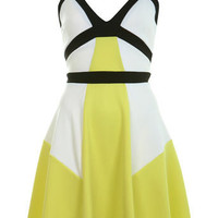 Elastic Colour Block Skater - Skater Dresses - Dress Shop - Miss Selfridge