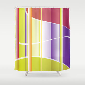 Abstract 107 Shower Curtain by Ramon Martinez Jr
