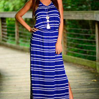 Stripe It Now Maxi, Royal/White