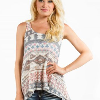 BLU PEPPER AZTEC SWEATER TANK