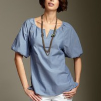 Apparel Classic Clothing at Talbots - Yarn-dyed poet shirt