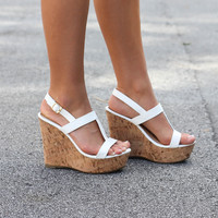 Walk It Out White Wedge